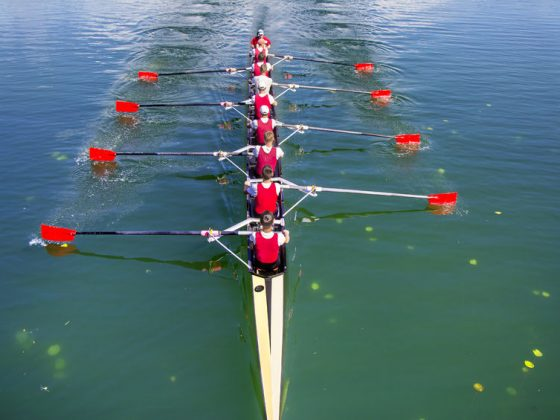 Rowing is all about more fluidity and less friction